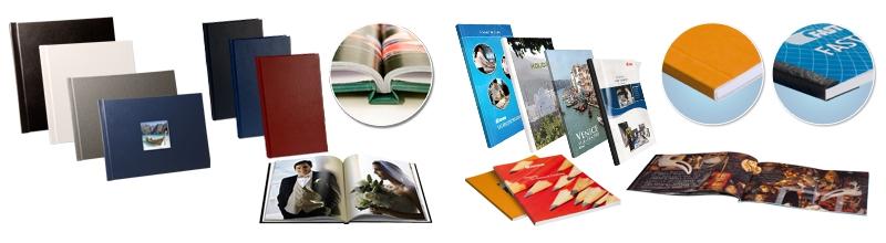 Exemples de livres reliés avec le procédé d'agrafage BooXTer